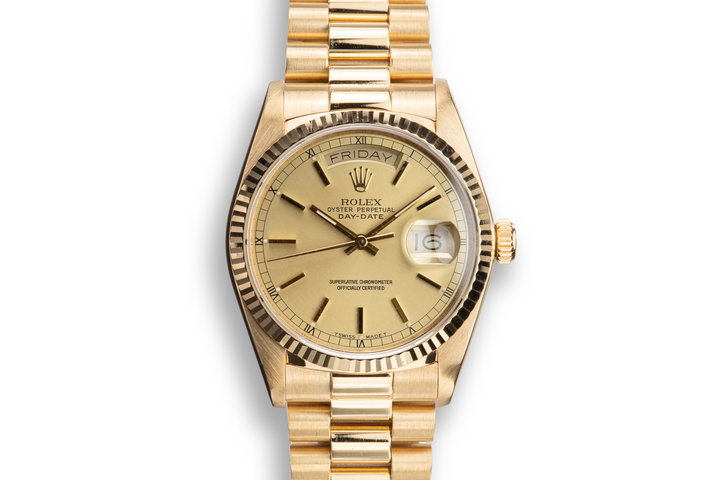 1987 Rolex 18K YG Day-Date 18038 photo
