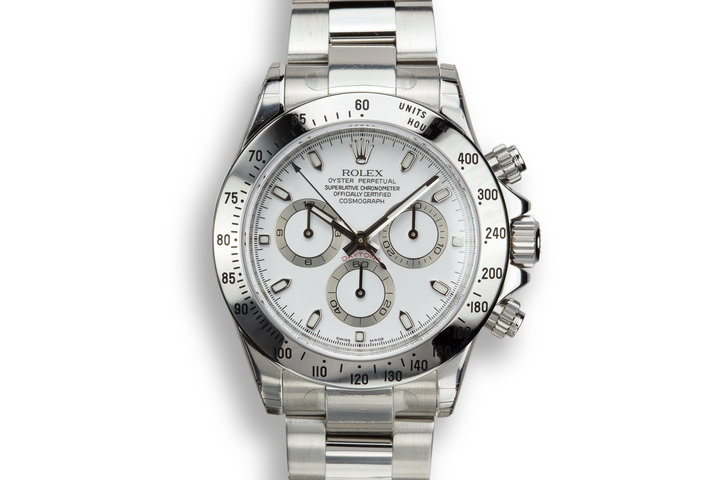 2007 Rolex Daytona 116520 White Dial in Factory Protective Stickers with Box and Papers photo