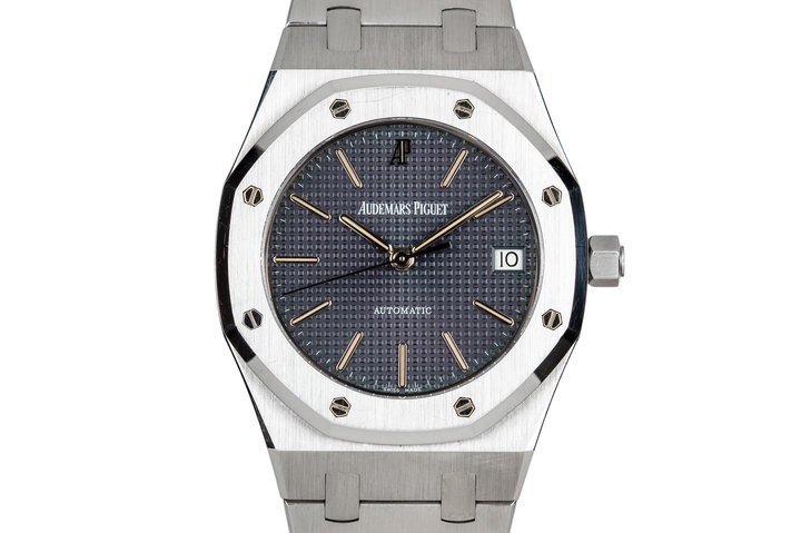 1996 Audemars Piguet Royal Oak 14790ST Black Dial with Box, Papers, and Service Papers photo