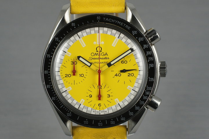 Omega Speedmaster Yellow 'Michael Shumacher' Dial  3816 photo