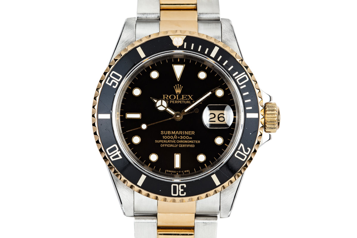 1991 Rolex Two Tone Submariner 16613 photo, #0