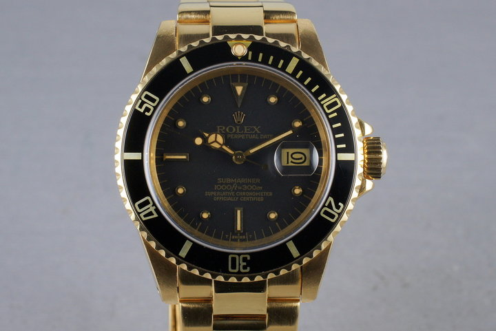 1980 Rolex 18K Submariner 16808 with RSC Papers photo