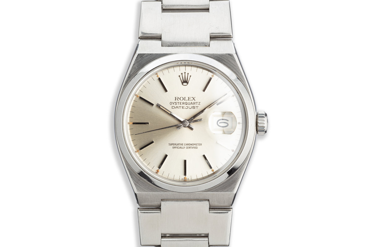 1979 Rolex OysterQuartz DateJust 17000 Silver Dial photo, #0
