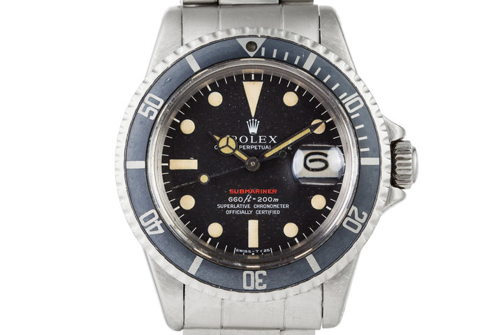 1971 Rolex Red Submariner 1680 Mark IV Dial photo