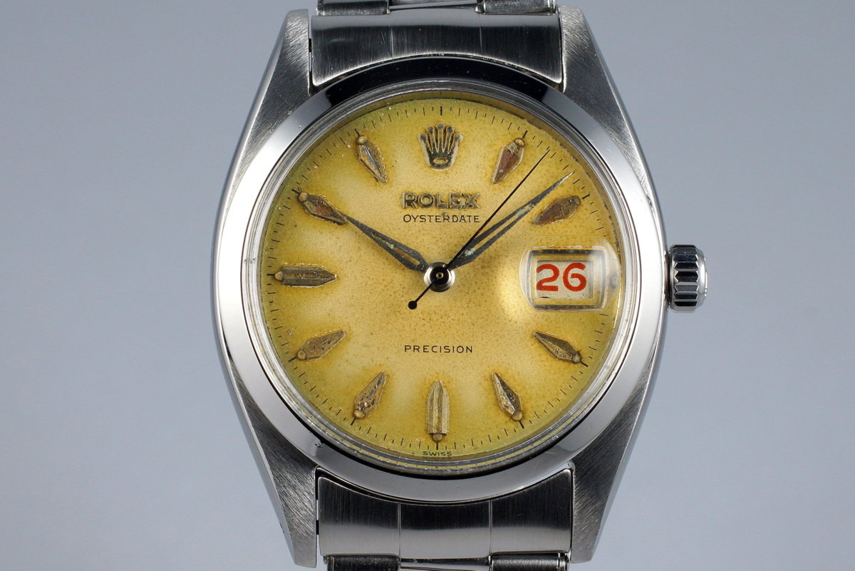 1957 Rolex OysterDate 6494 with Tropical Dial photo, #0