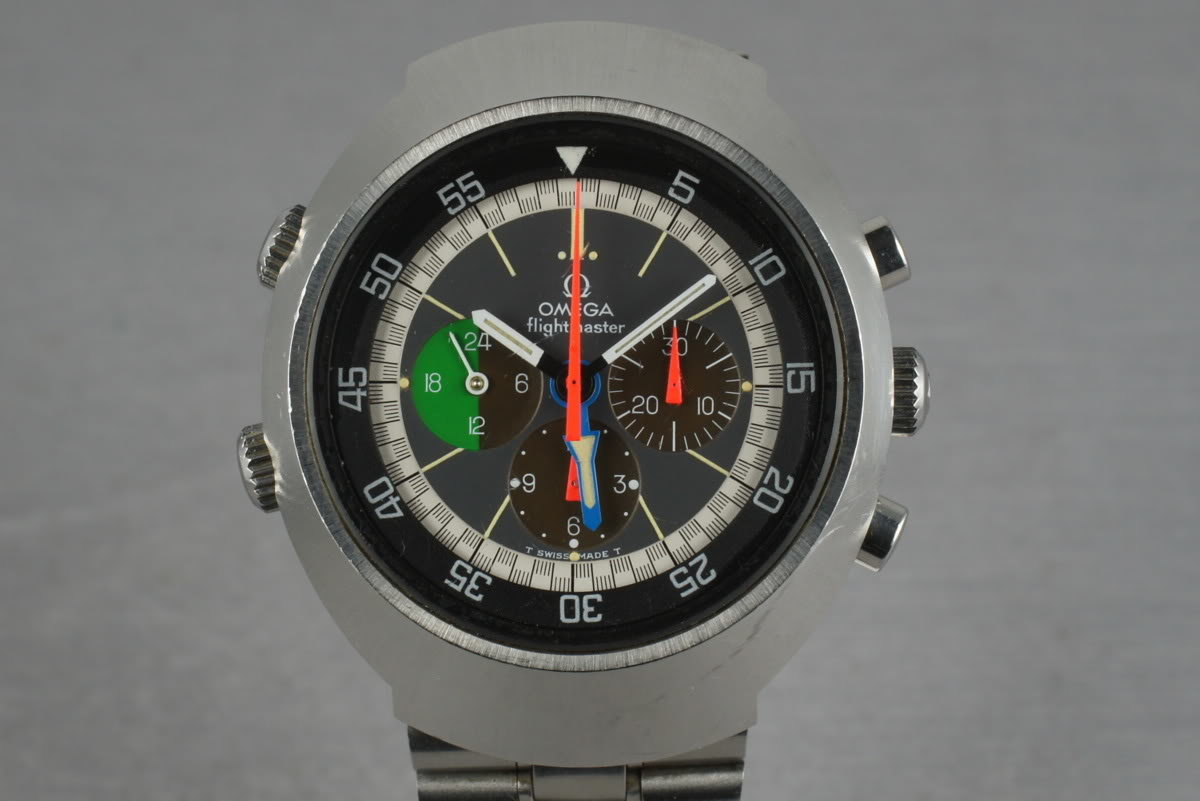 Vintage Omega Flightmaster C. 910 ST145.013 Tropical dial with Papers photo, #0