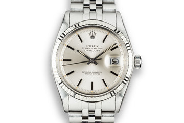 1975 Rolex DateJust 1601 Silver Dial photo