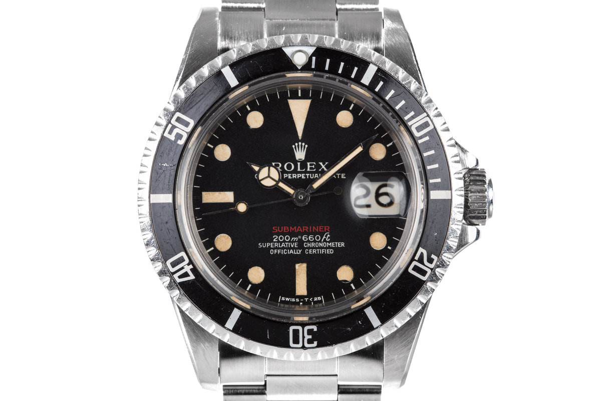 1969 Rolex Red Submariner 1680 with Mark I Long F Meters First Dial photo, #0