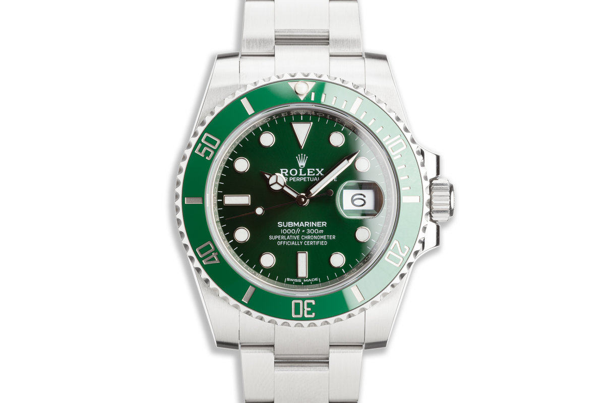 "2018 Rolex Green Submariner 116610LV ""Hulk"" with Box & Card photo, #0"