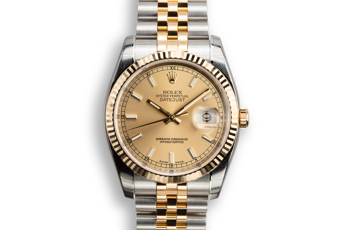 2009 Mint Rolex Two-Tone DateJust 116233 Champagne Dial with Box and Papers photo, #0