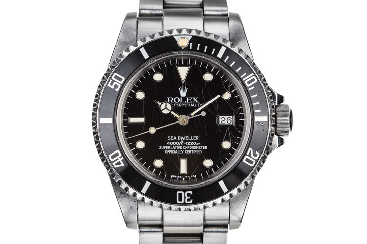 1984 Rolex Sea-Dweller 16660 with Spider Cracked Dial photo