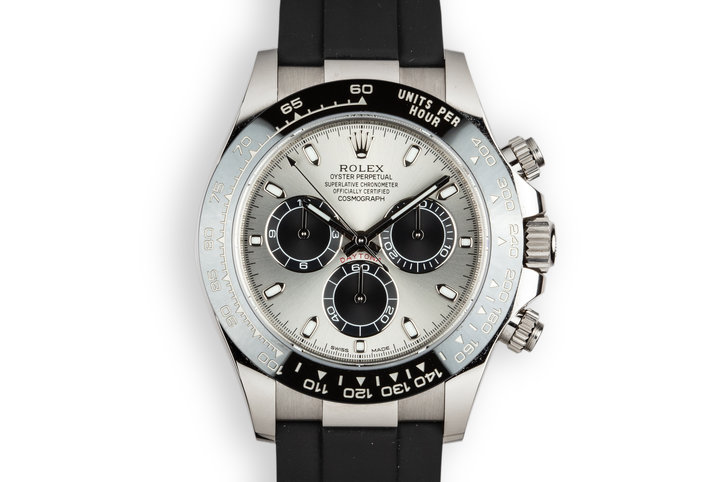 2017 Rolex 18K WG Daytona 116519 LN Silver Dial with Box and Papers photo