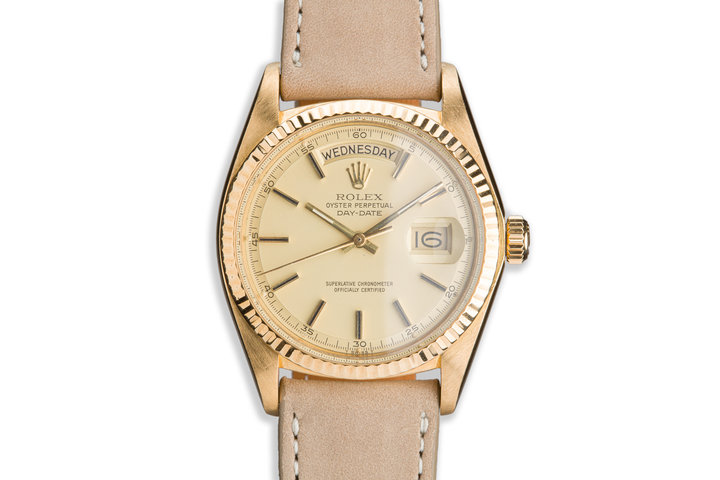 1977 Vintage Rolex 18K Day-Date 1803 Matte Dial photo