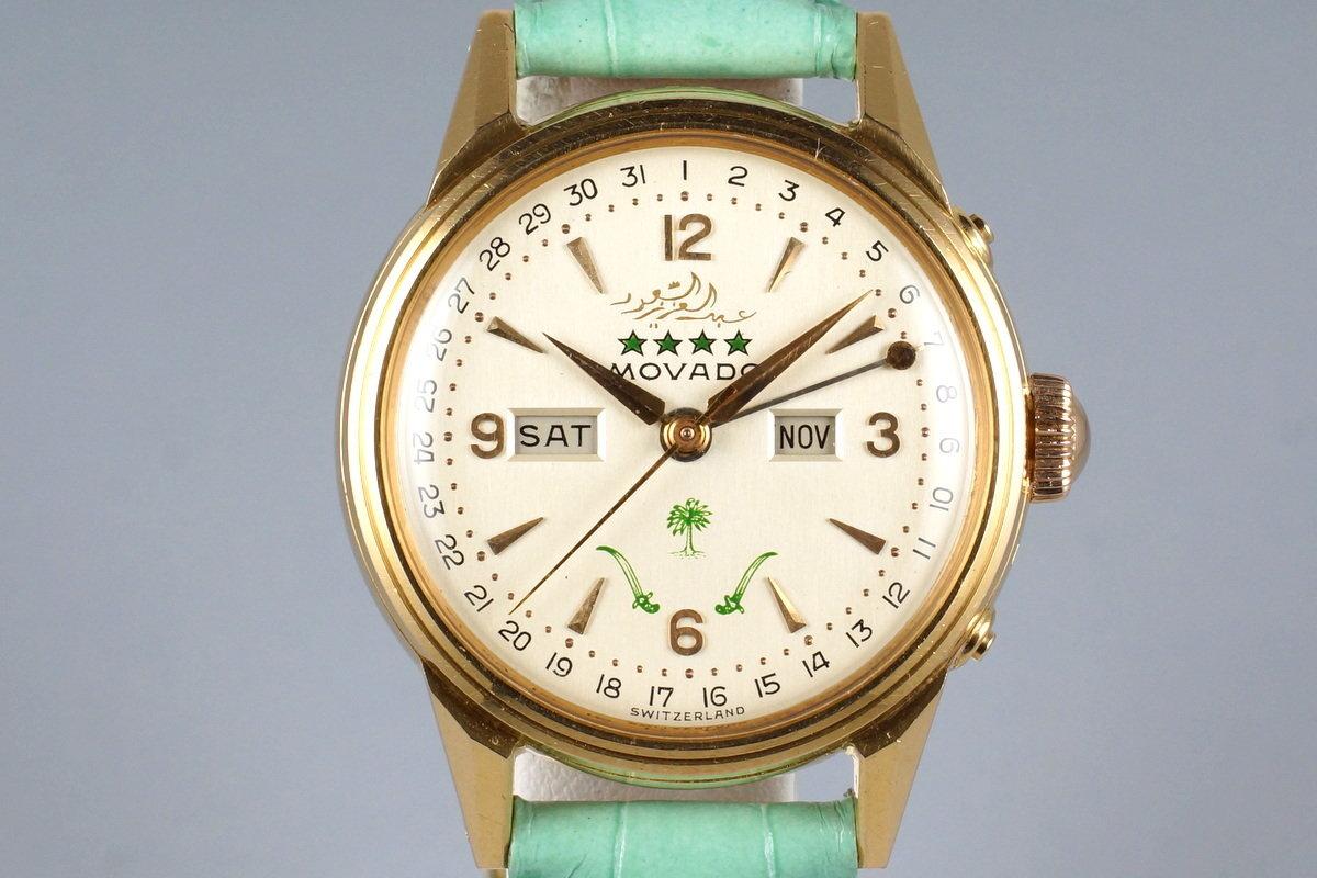 1950's Movado RG Triple Date 6362 Saudi Dial photo, #0