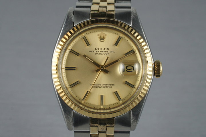 1972 Rolex Two Tone DateJust 1601 Champagne Sigma Dial photo