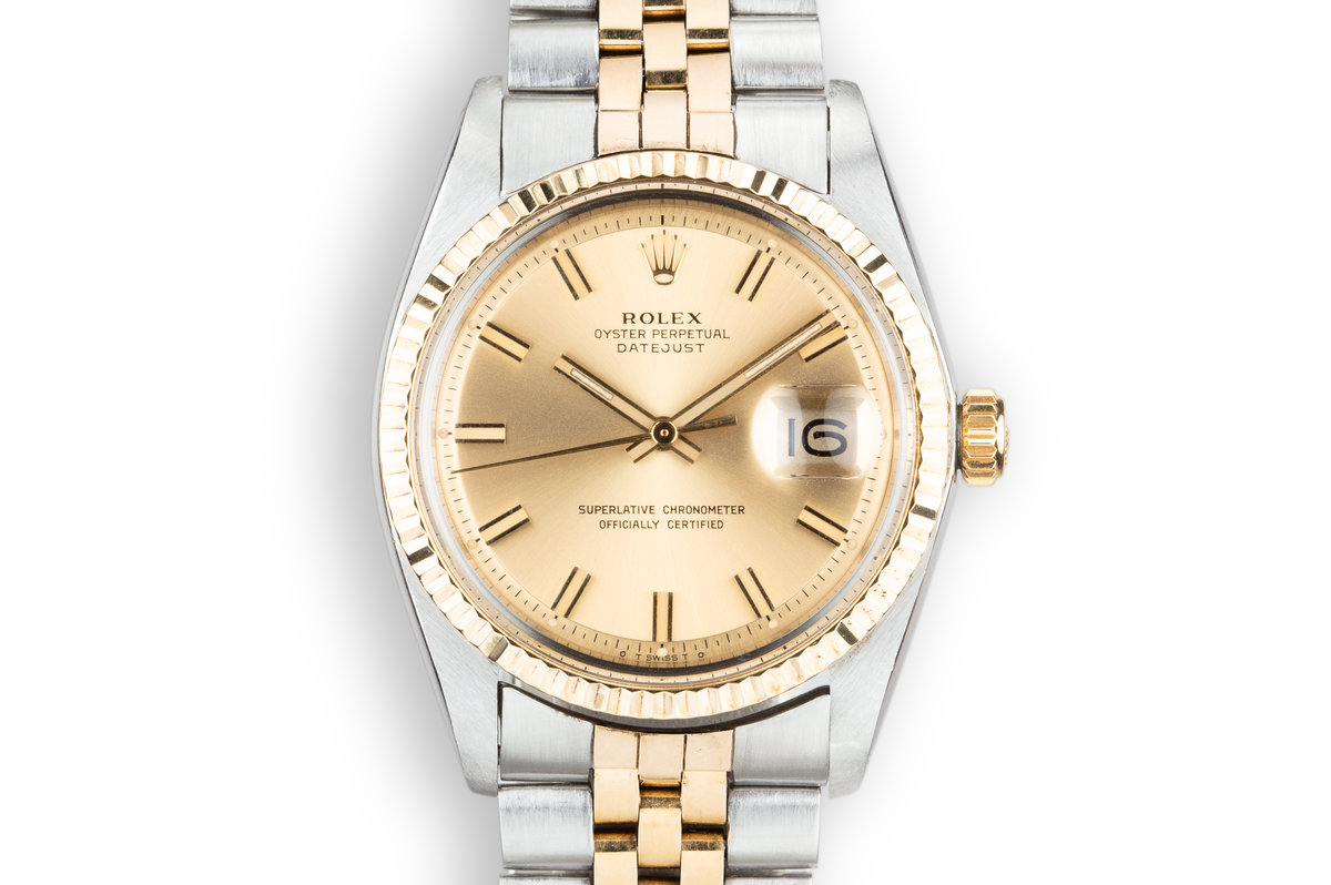 1971 Rolex Two-Tone DateJust 1601 with Sigma Champagne Dial photo, #0