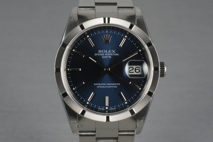 2006 Rolex Blue Dial Date 15210 photo