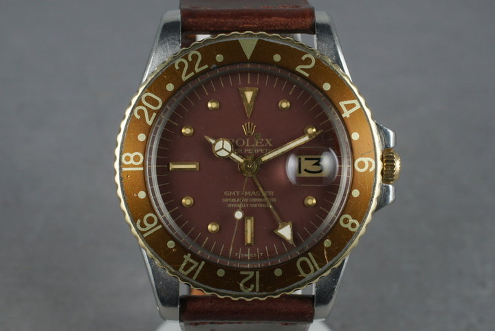 1972 Rolex 18K/SS GMT 1675 with Root Beer Dial photo