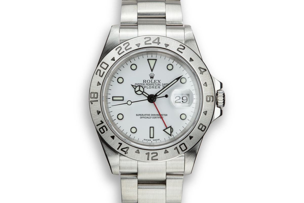 2000 Rolex Explorer II 16570 White Dial with Service Papers photo, #0