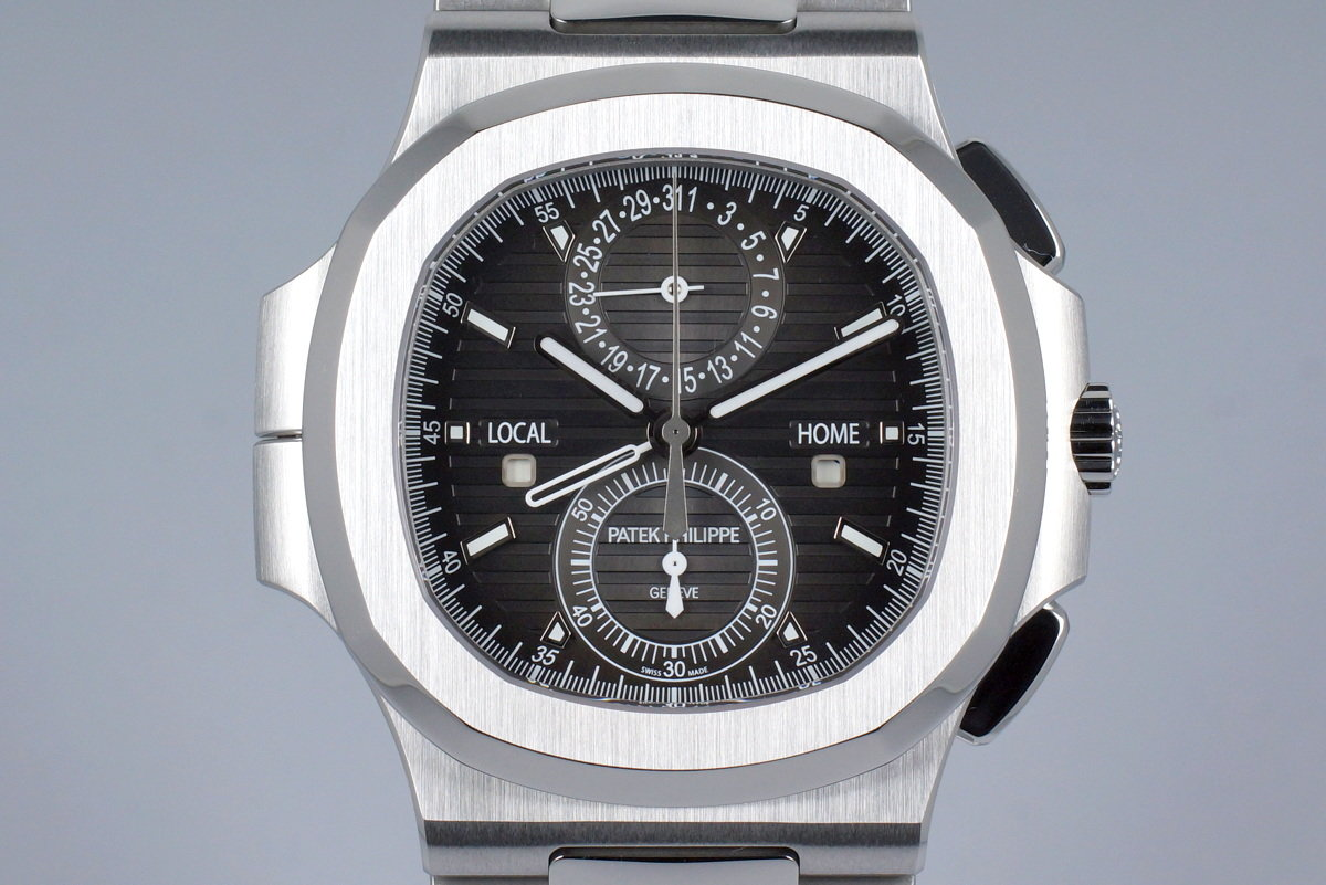 2015 Patek Philippe Nautilus Travel Time Chronograph 5990/1A with Box and Papers photo, #0