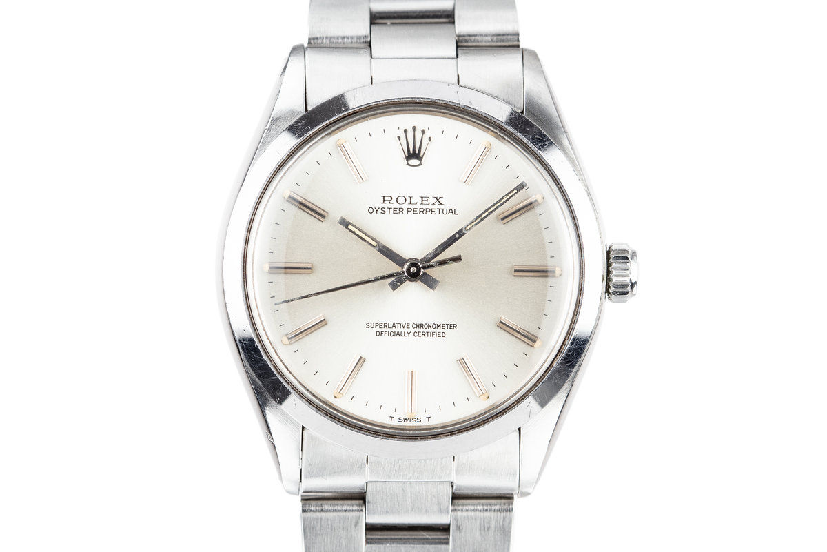 1981 Rolex Oyster Perpetual 1002 Silver Dial photo, #0