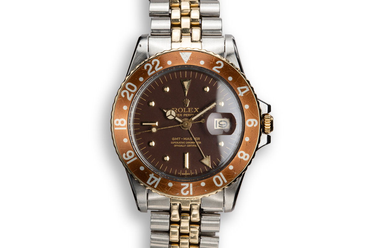 1972 Rolex Two-Tone GMT-Master 1675 with Brown Nipple Dial photo, #0