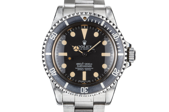 """1977 Rolex Submariner 5512 with Mark 1Maxi Dial owned by Robert F Marx """"the true father of underwater archaeology"""" photo"""