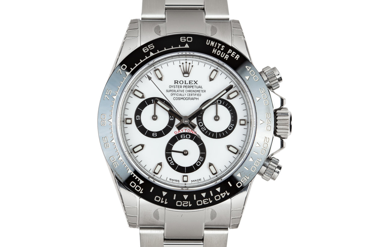 2018 Rolex Ceramic Daytona 116500LN White Dial with Box and Papers MINT photo, #0