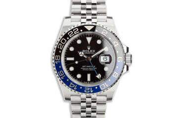 "2020 Rolex GMT-Master II 126710BLNR ""Batman"" with Box and Card photo"