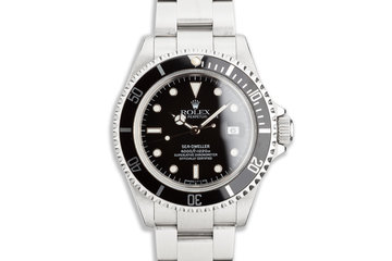 1999 Rolex Sea-Dweller 16600 with Box, Papers & Tool-Kit photo
