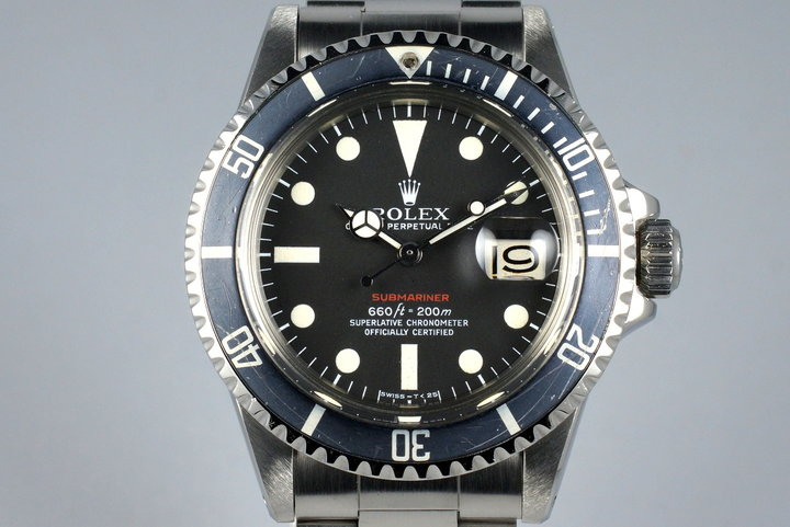 1971 Rolex Red Submariner 1680 Mark V Dial photo