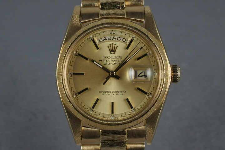 1978 Rolex Vintage 18K YG Bark President  1807 photo