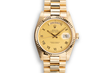 1984 Rolex 18K Day-Date 18038 with Matte Champagne Dial photo