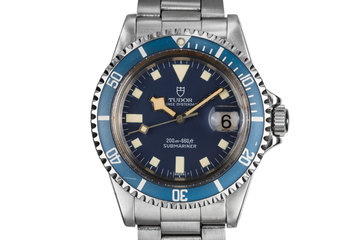 1981 Tudor Blue Snowflake Submariner 94110 photo