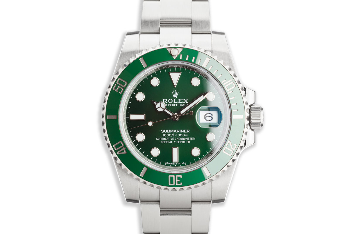 "2017 Rolex Green Submariner 116610LV ""Hulk"" with Box and Card photo, #0"