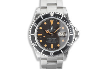 1984 Rolex Submariner 16800 Matte Dial with Box & Service Papers photo