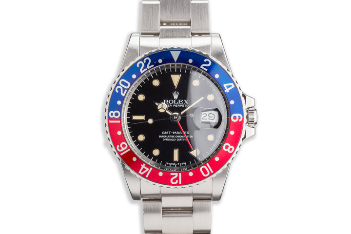 "1984 Vintage Rolex GMt-Master 16750 ""Pepsi"" with Service Papers photo"