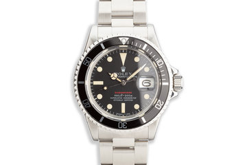 1972 Vintage Rolex Red Submariner 1680 MK IV Dial with Service Papers photo