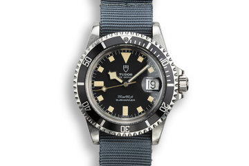 1981 Tudor Snowflake Submariner 94110 with Service Papers photo
