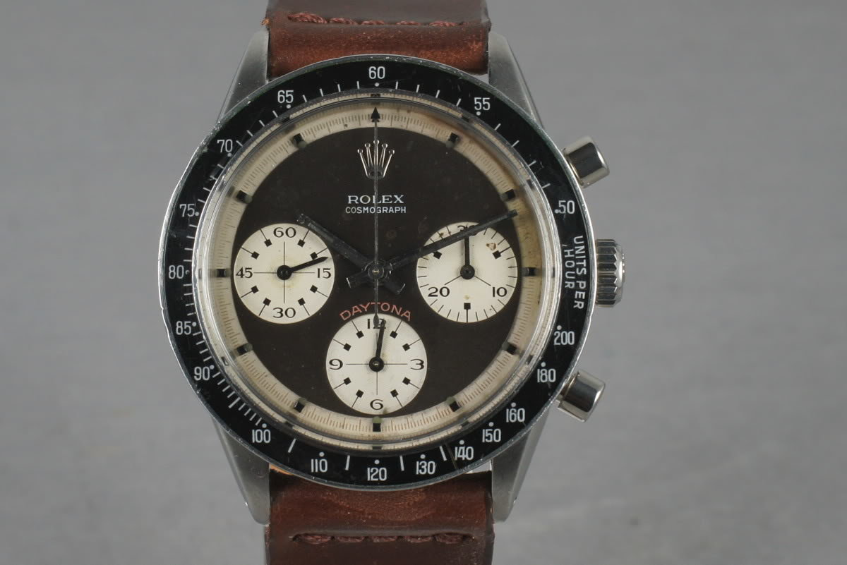 1967 Rolex Daytona 6241 with Paul Newman Tropical 3 Color Dial photo, #0