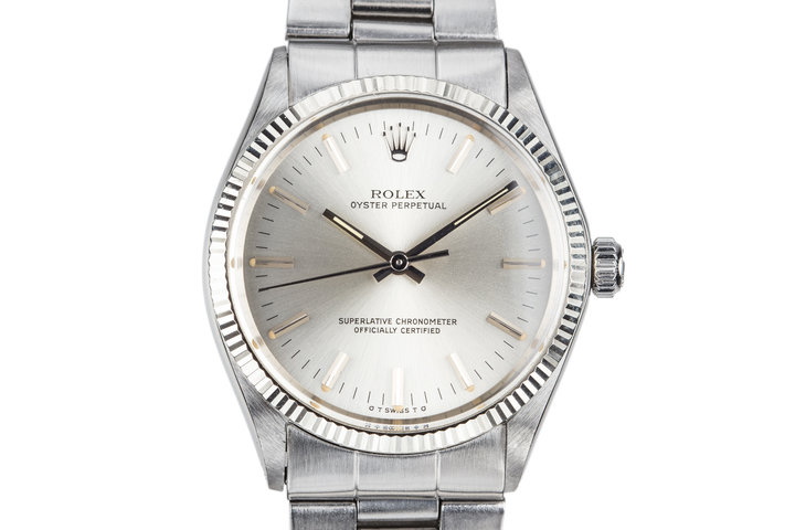 1972 Rolex Oyster Perpetual 1005 Silver Dial photo