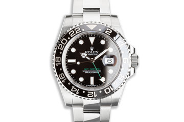 2017 Rolex GMT-Master II 116710LN Black Bezel with Box & Card photo