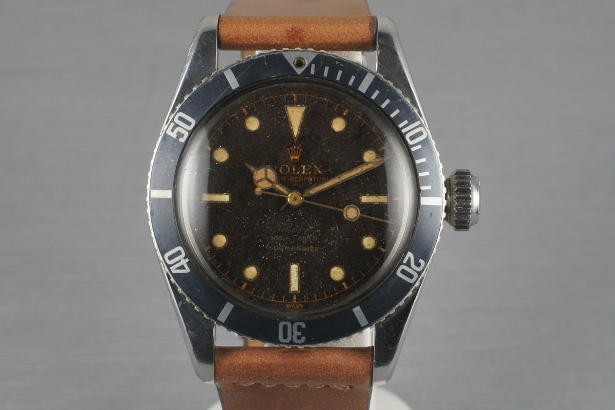1956 Rolex Submariner Big Crown 6538 4 Line photo, #0