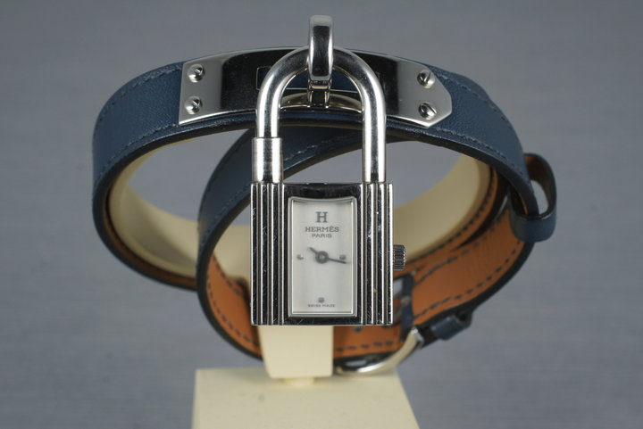 Hermes Kelly Lock Watch with Guarantee Papers photo