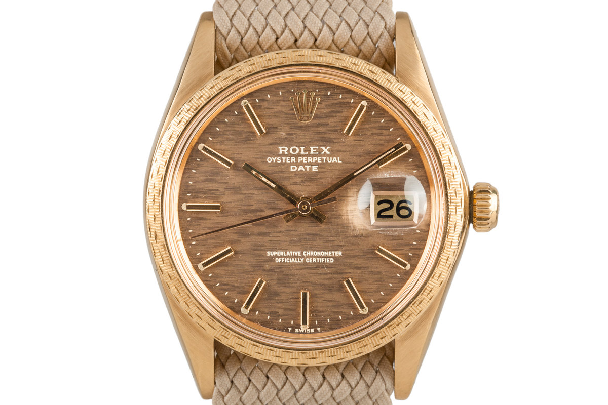 1972 Rolex Date 1514 with Brown Mosaic Dial photo, #0