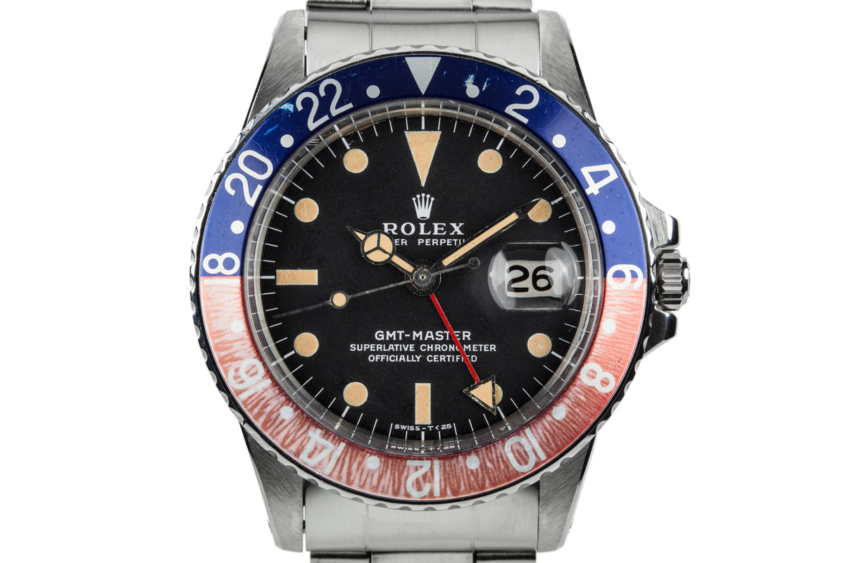 """1971 Rolex GMT-Master 1675 """"Pepsi"""" with Box and Papers photo, #0"""