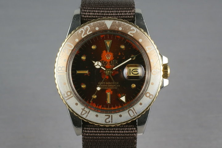 Rolex GMT Two Tone 16753 with root beer tropical nipple dial photo