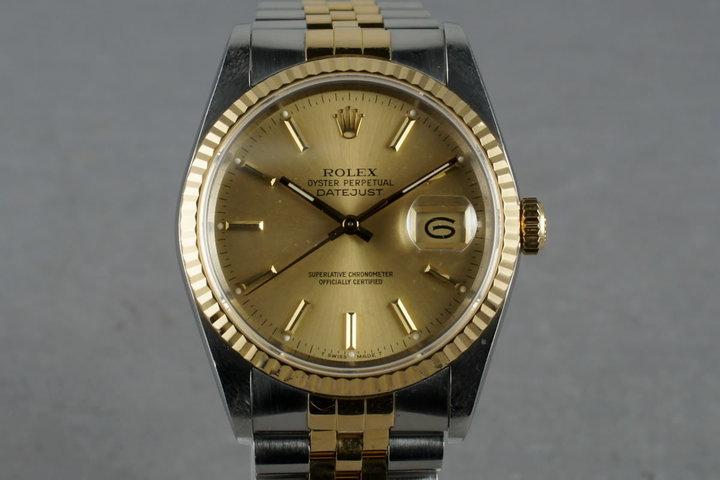 1988 Rolex 18K/SS DateJust 16233 photo