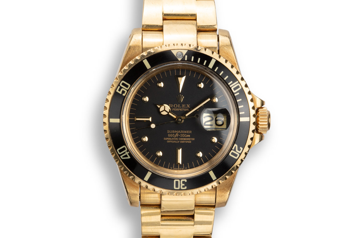 1979 Rolex 18K YG Submariner 1680 with Black Nipple Dial photo, #0
