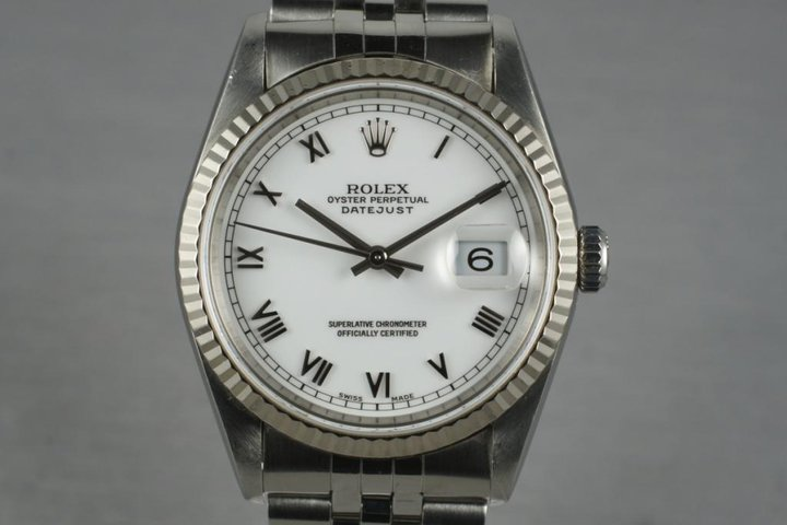 1995 Rolex Datejust 16234 White Roman Dial photo